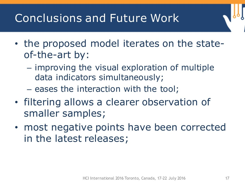 Conclusions and Future Work • the proposed mode...