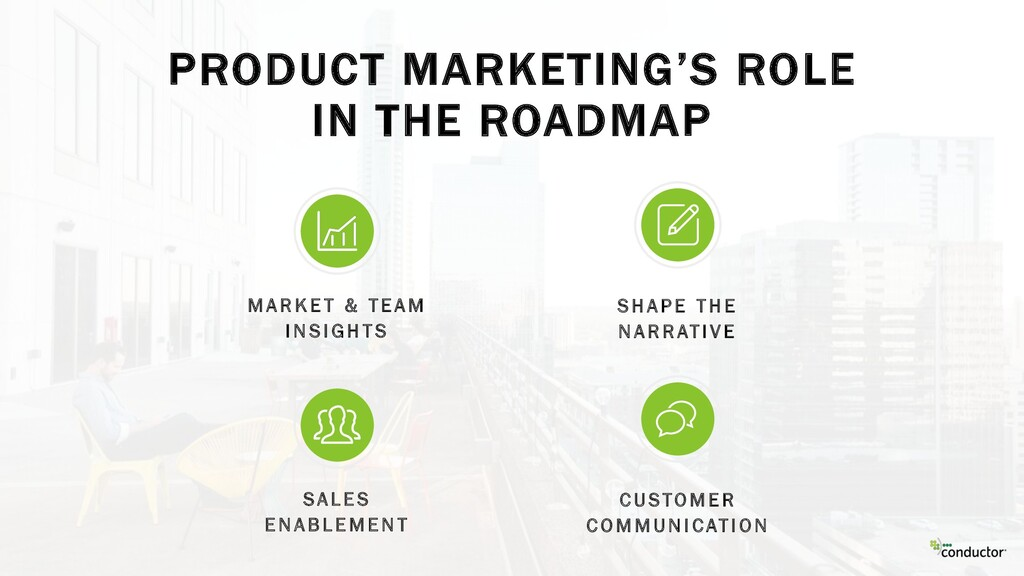 PRODUCT MARKETING'S ROLE IN THE ROADMAP M A R K...