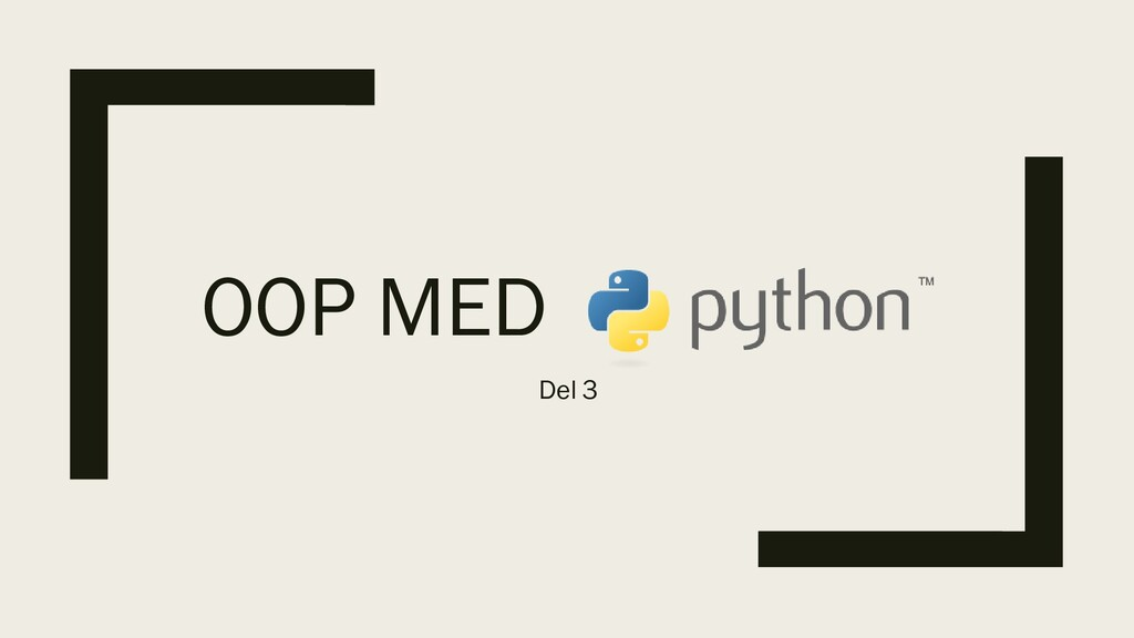 OOP MED Del 3