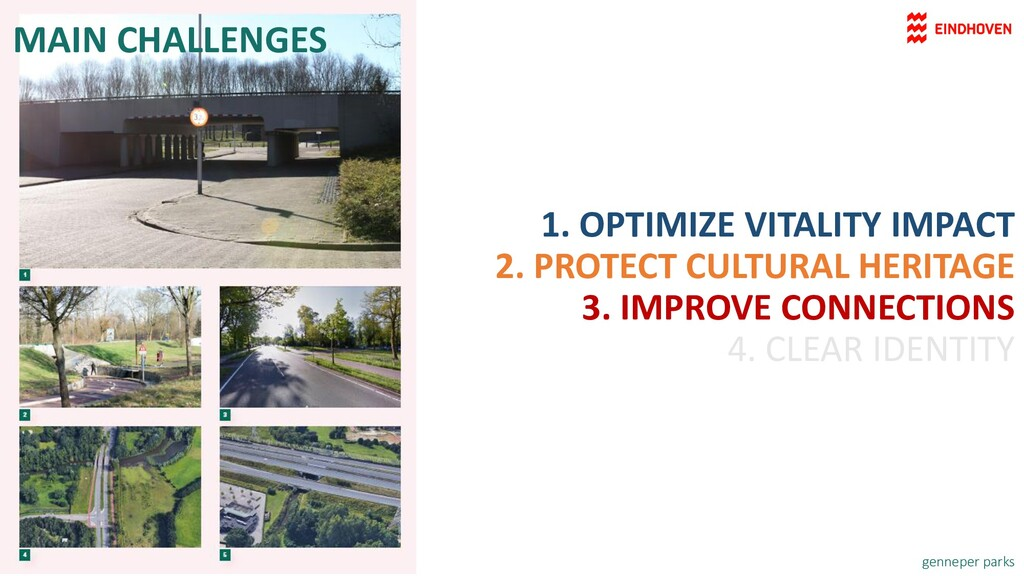 MAIN CHALLENGES 1. OPTIMIZE VITALITY IMPACT 2. ...