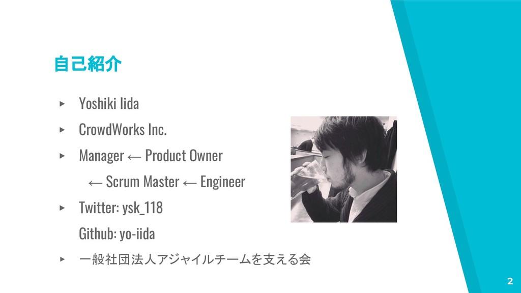 自己紹介 ▸ Yoshiki Iida ▸ CrowdWorks Inc. ▸ Manager...
