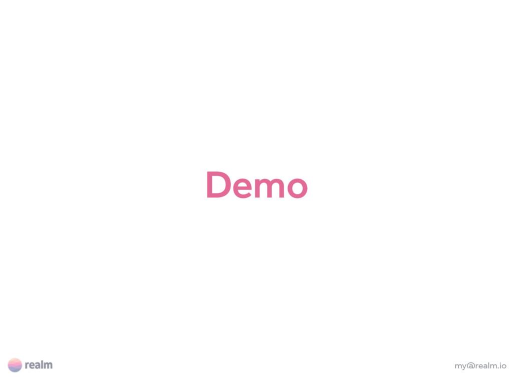 my@realm.io Demo