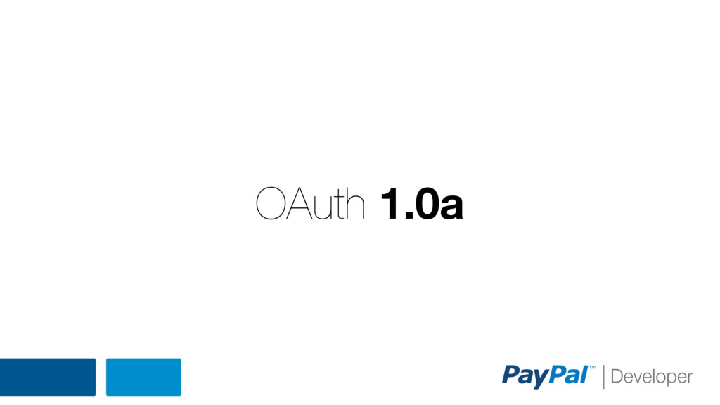 OAuth 1.0a