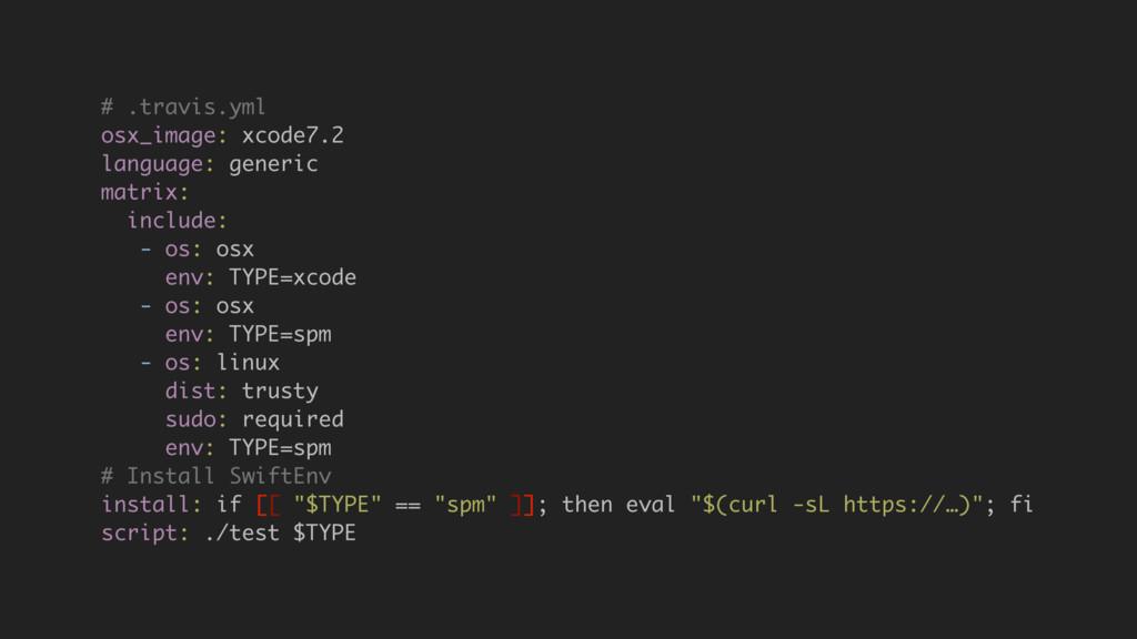 # .travis.yml osx_image: xcode7.2 language: gen...