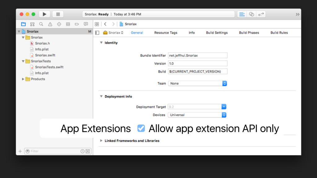 App Extensions Allow app extension API only