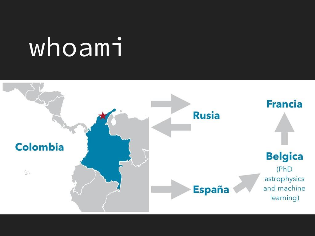 whoami Colombia Rusia España Belgica Francia (P...