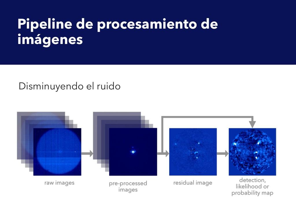 Pipeline de procesamiento de imágenes Disminuye...