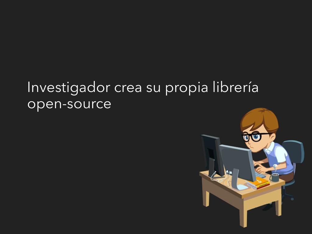 Investigador crea su propia librería open-source