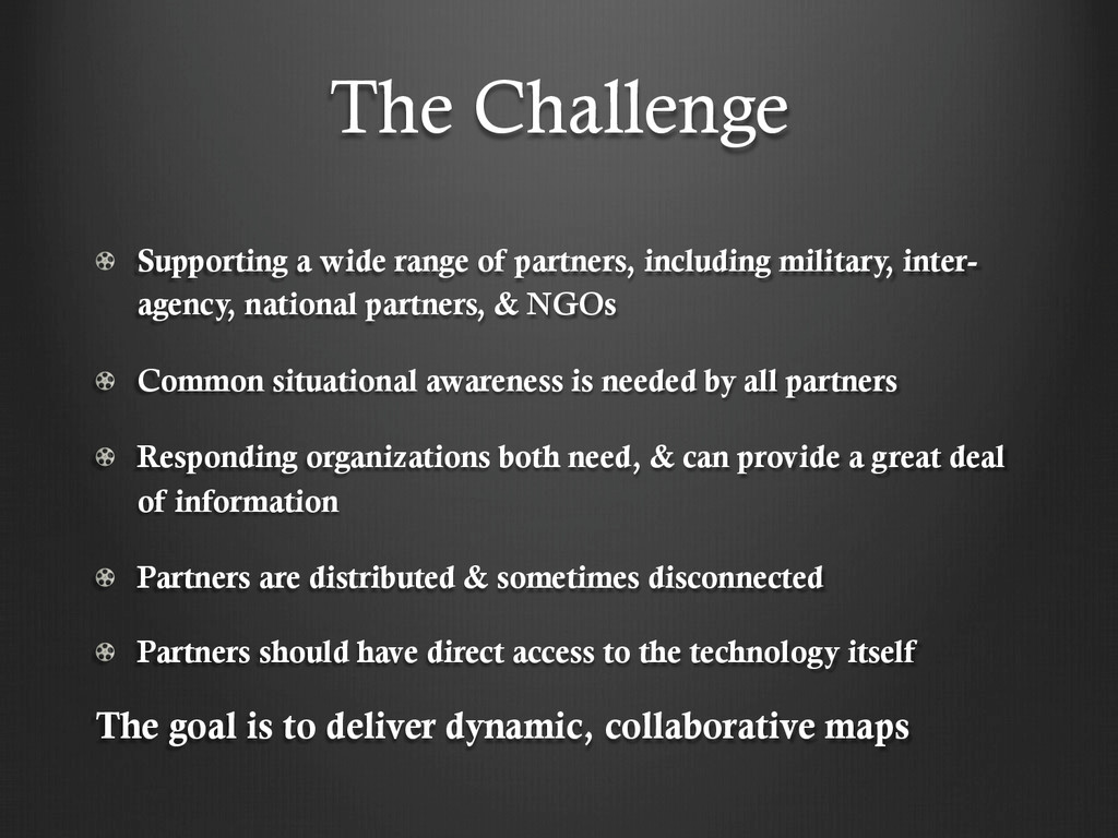 The Challenge !   Supporting a wide range of pa...