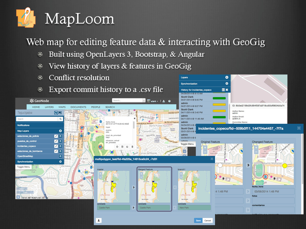 Web map for editing feature data & interacting ...