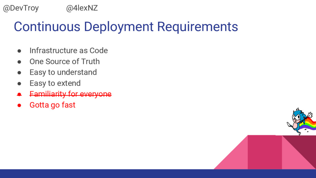 Continuous Deployment Requirements ● Infrastruc...