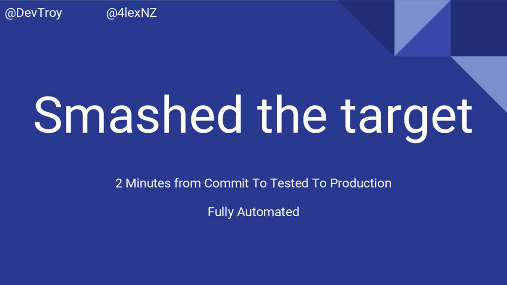 Smashed the target 2 Minutes from Commit To Tes...