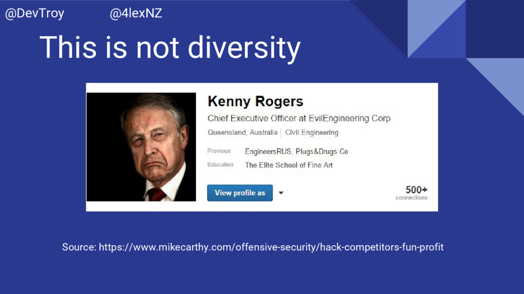 This is not diversity Source: https://www.mikec...