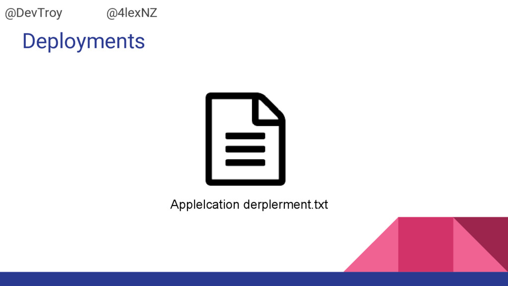Deployments Applelcation derplerment.txt @DevTr...