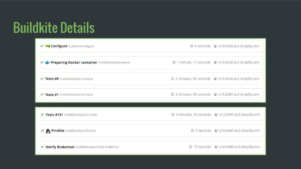 Buildkite Details