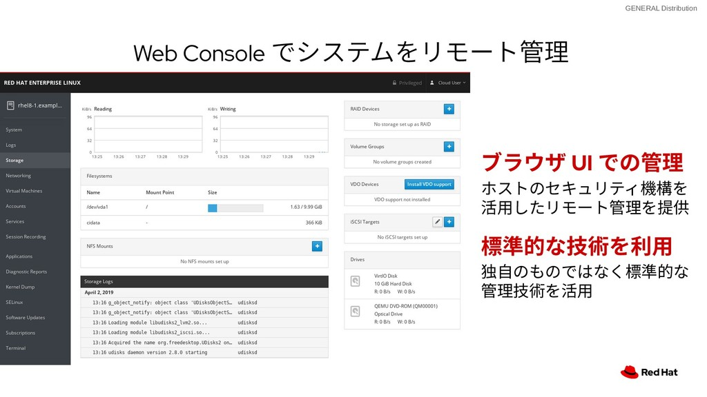 GENERAL Distribution Web Console でシステムをリモート管理 W...
