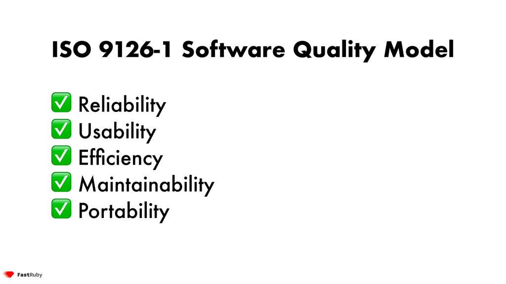 ISO 9126-1 Software Quality Model ✅ Reliability...