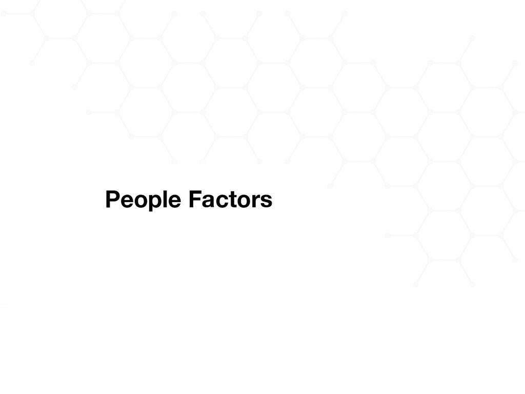 People Factors