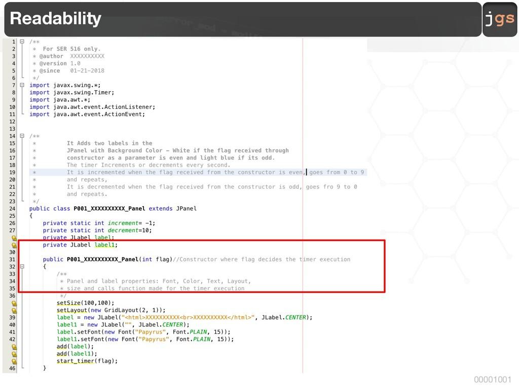 jgs 00001001 Readability