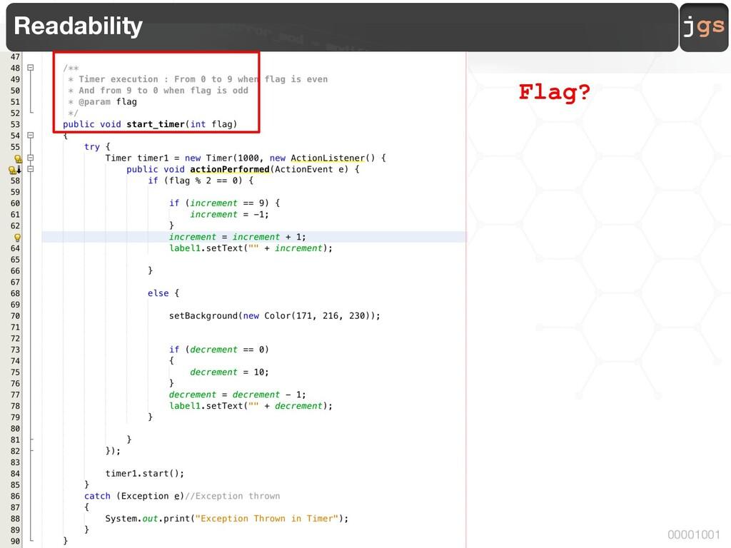jgs 00001001 Readability Flag?