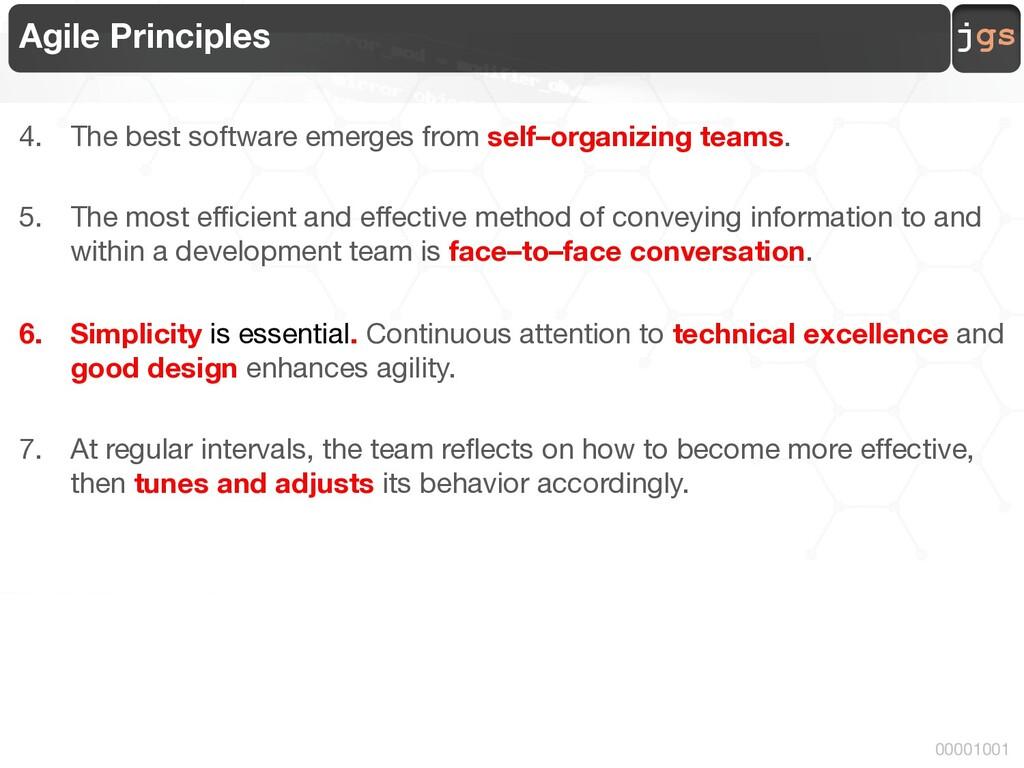 jgs 00001001 Agile Principles 4. The best softw...