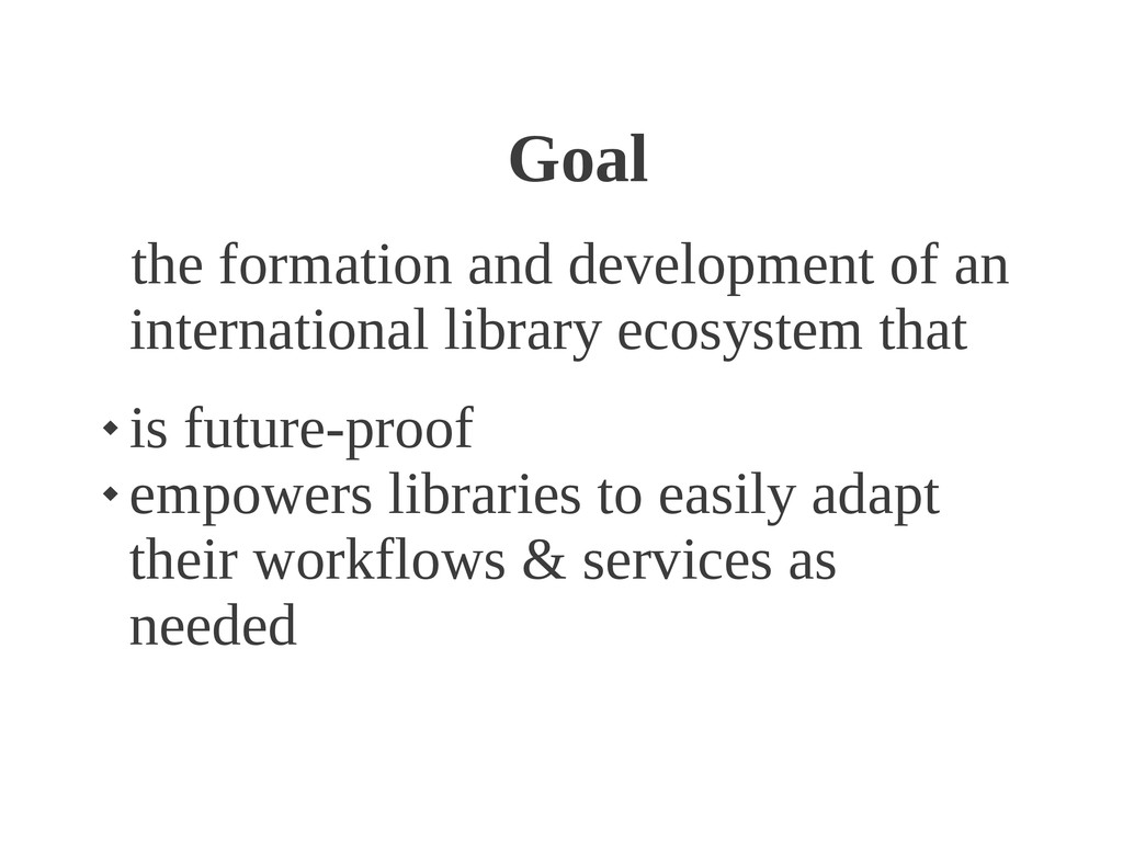 Goal the formation and development of an intern...