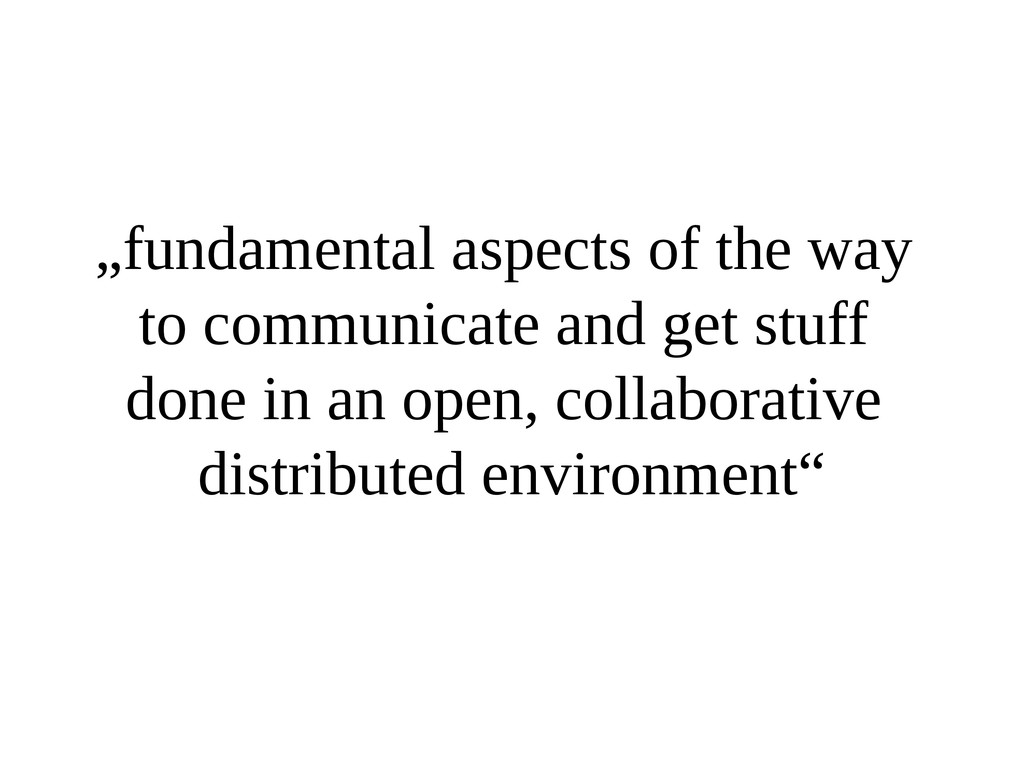 """""""fundamental aspects of the way to communicate ..."""
