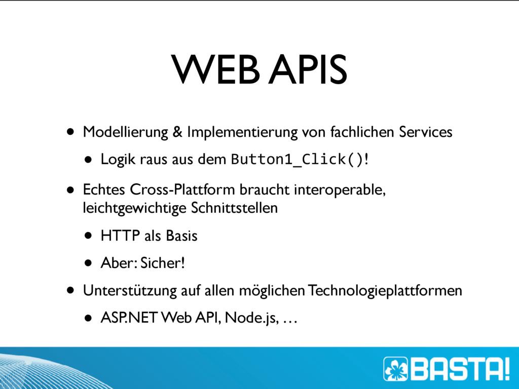WEB APIS • Modellierung & Implementierung von f...