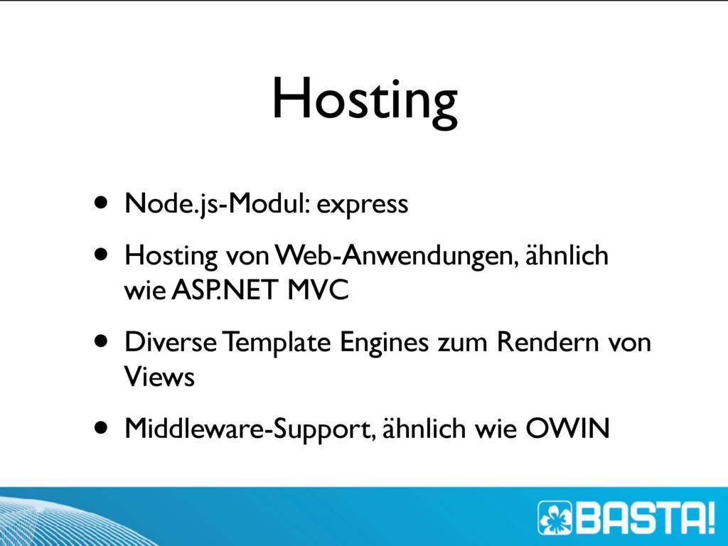 Hosting • Node.js-Modul: express • Hosting von ...