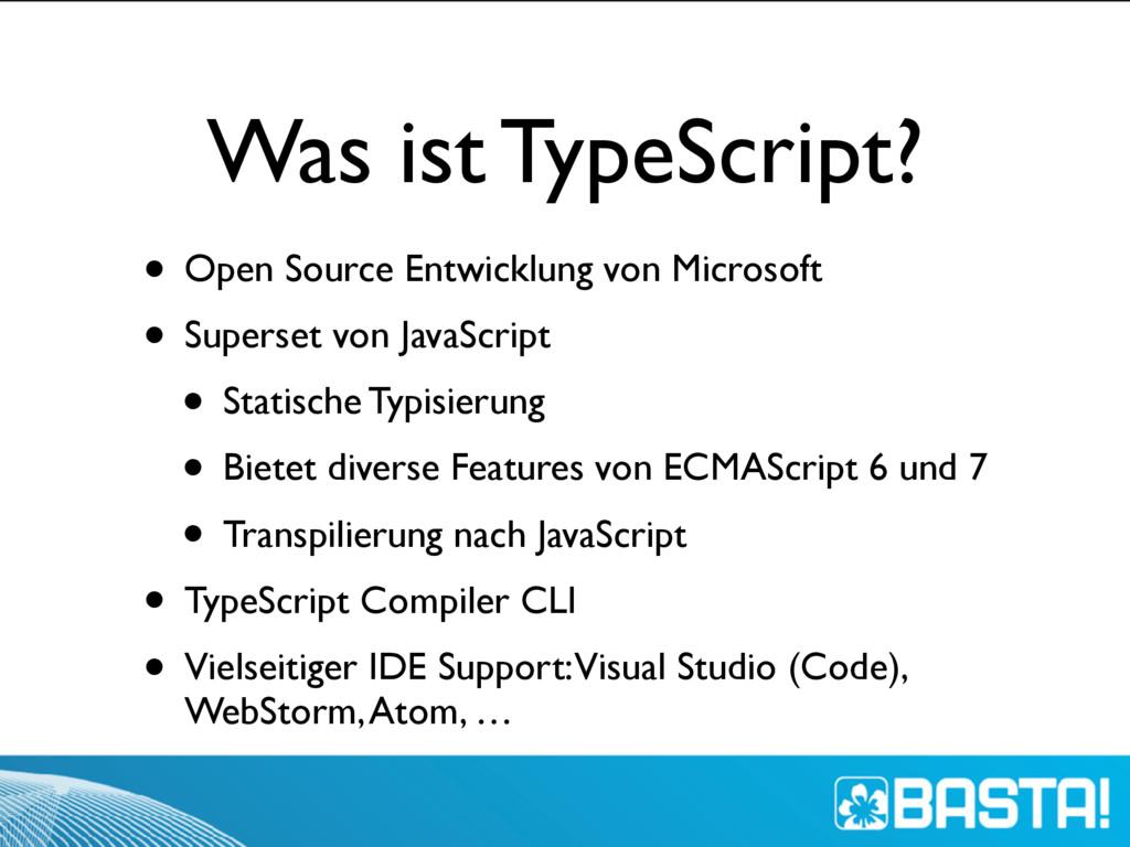 Was ist TypeScript? • Open Source Entwicklung v...
