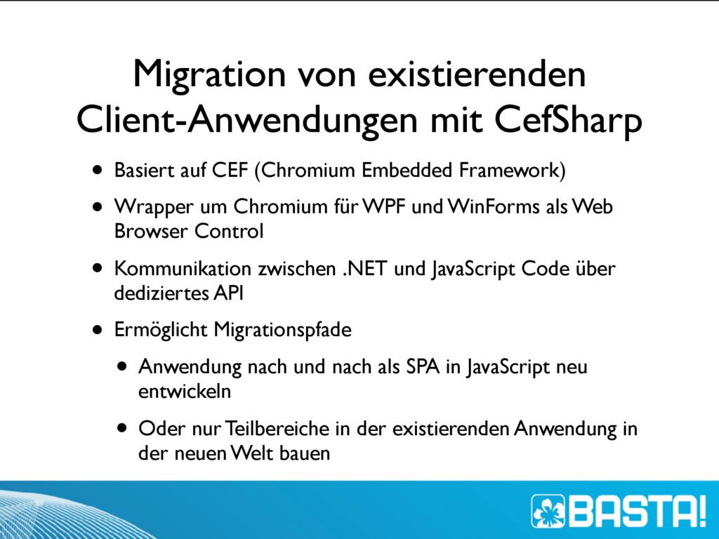 Migration von existierenden Client-Anwendungen ...