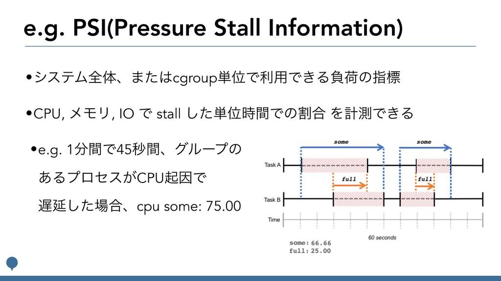 e.g. PSI(Pressure Stall Information) •γεςϜશମɺ·ͨ...