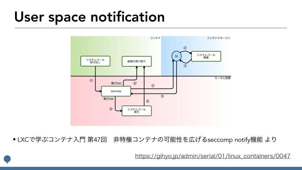 User space notification IUUQTHJIZPKQBENJOT...