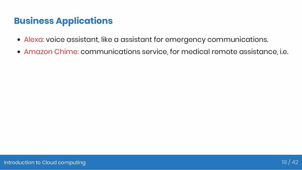 Business Applications Alexa: voice assistant, l...