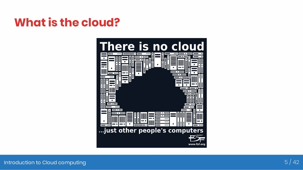 What is the cloud? Introduction to Cloud comput...