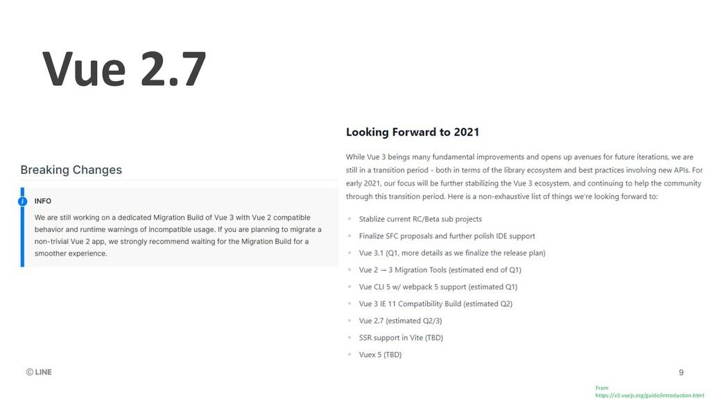 Vue 2.7 From https://v3.vuejs.org/guide/introdu...