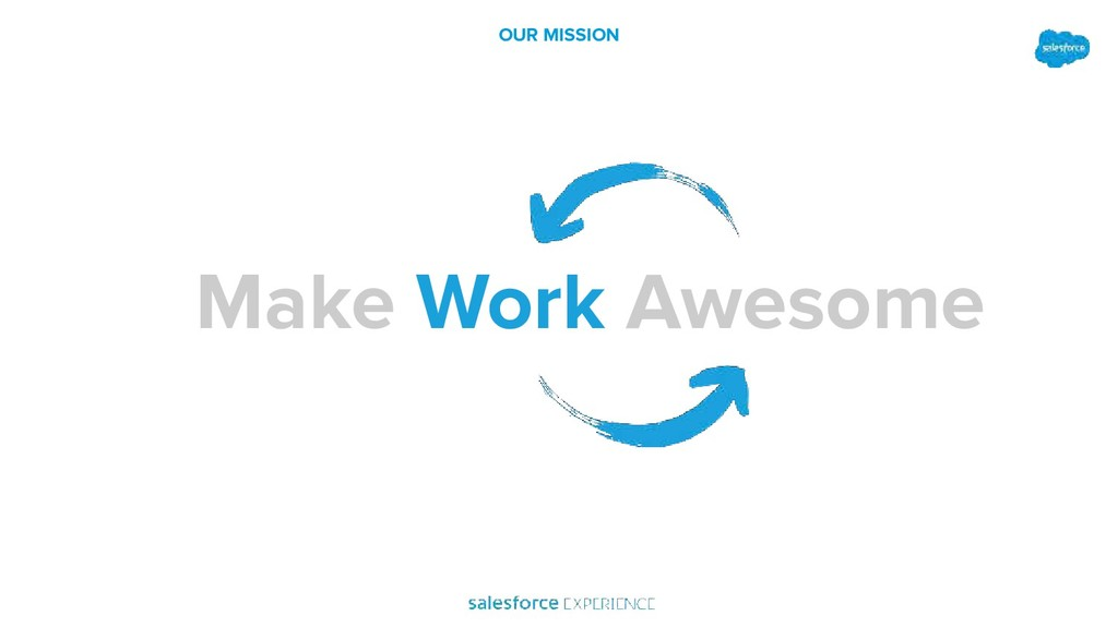Awesome Work OUR MISSION Make Work Awesome