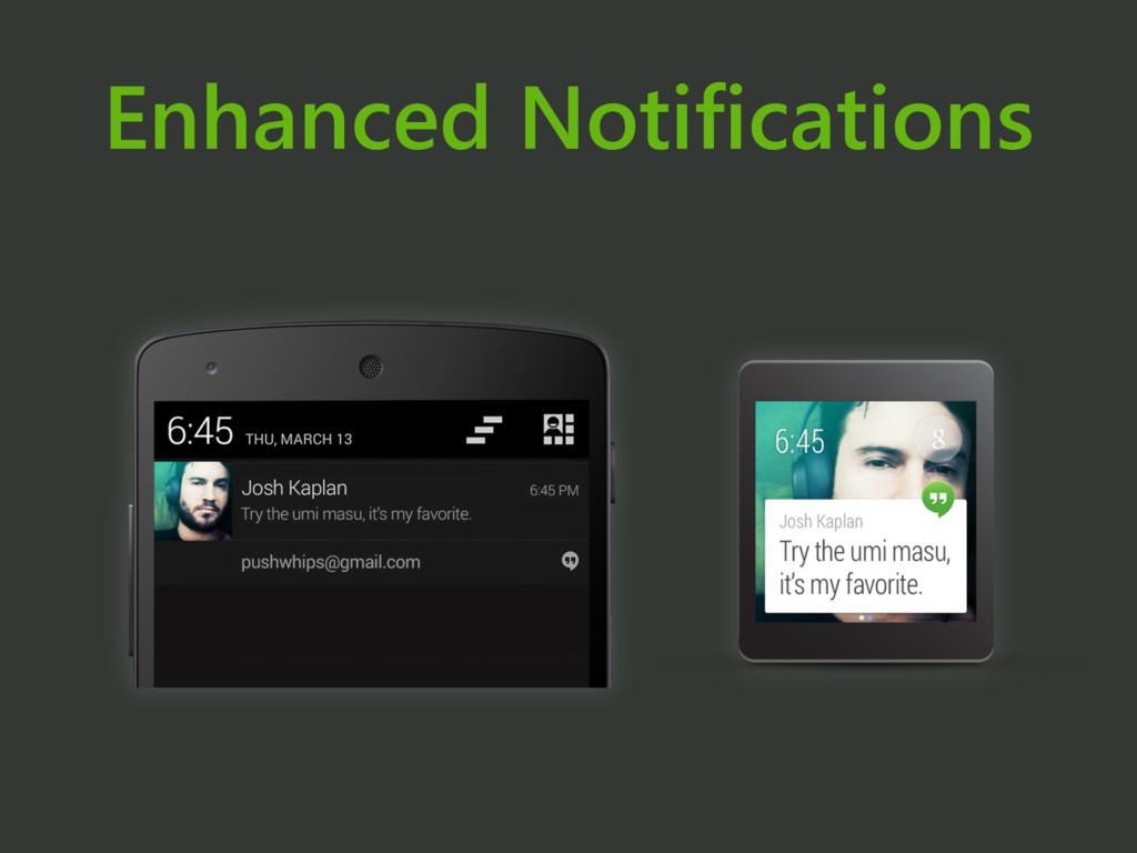 Enhanced Notifications