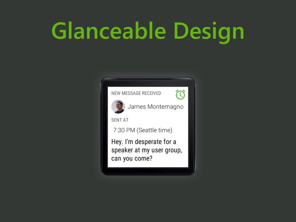Glanceable Design