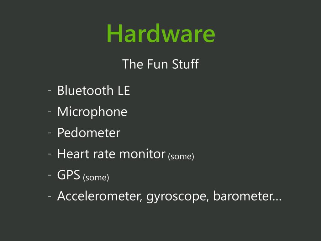 Hardware The Fun Stuff - Bluetooth LE - Microph...