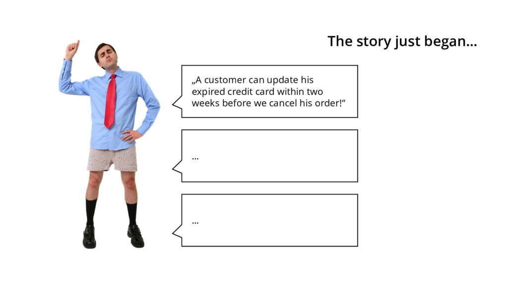 """""""A customer can update his expired credit card ..."""