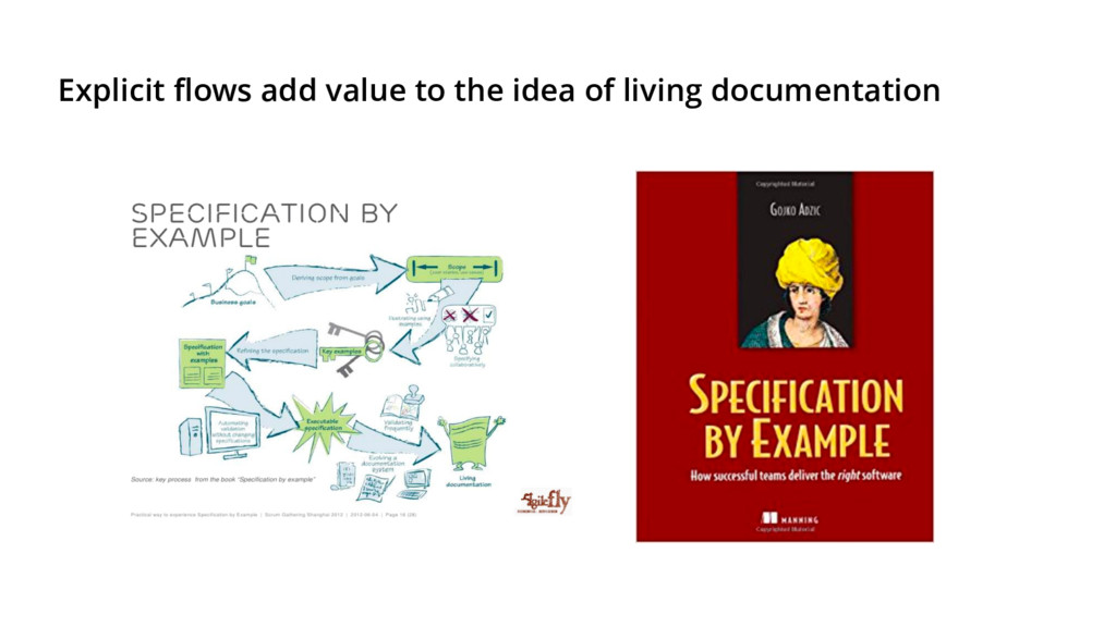 Explicit flows add value to the idea of living ...