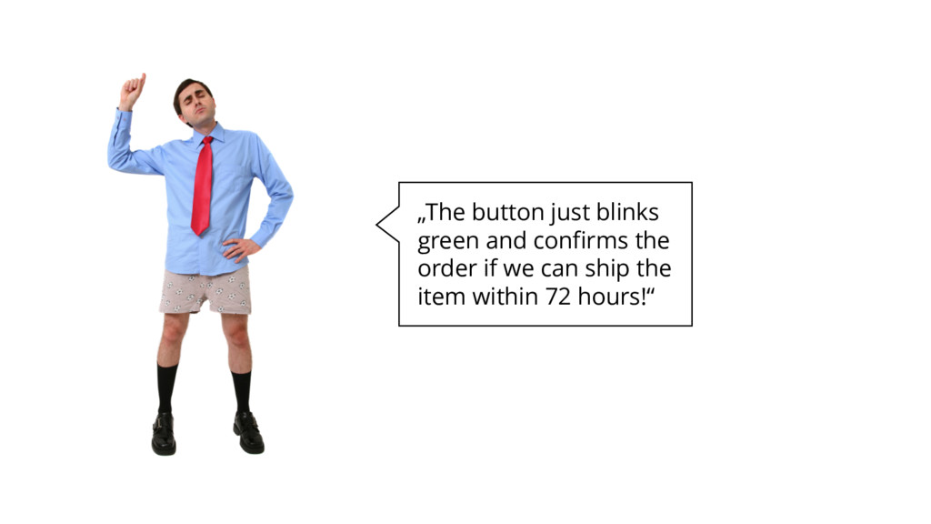 """""""The button just blinks green and confirms the ..."""