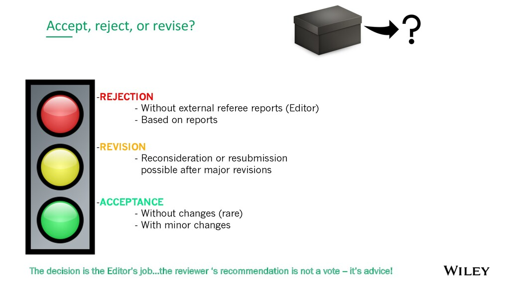 Accept, reject, or revise? -REJECTION - Without...