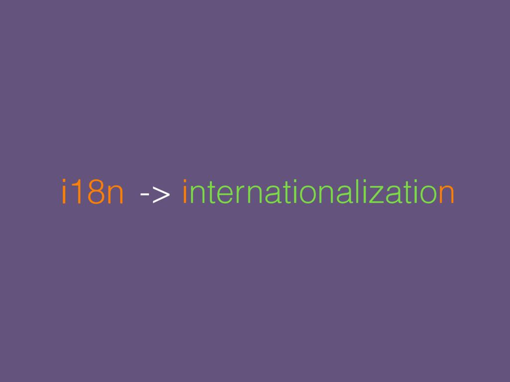 -> internationalization i18n