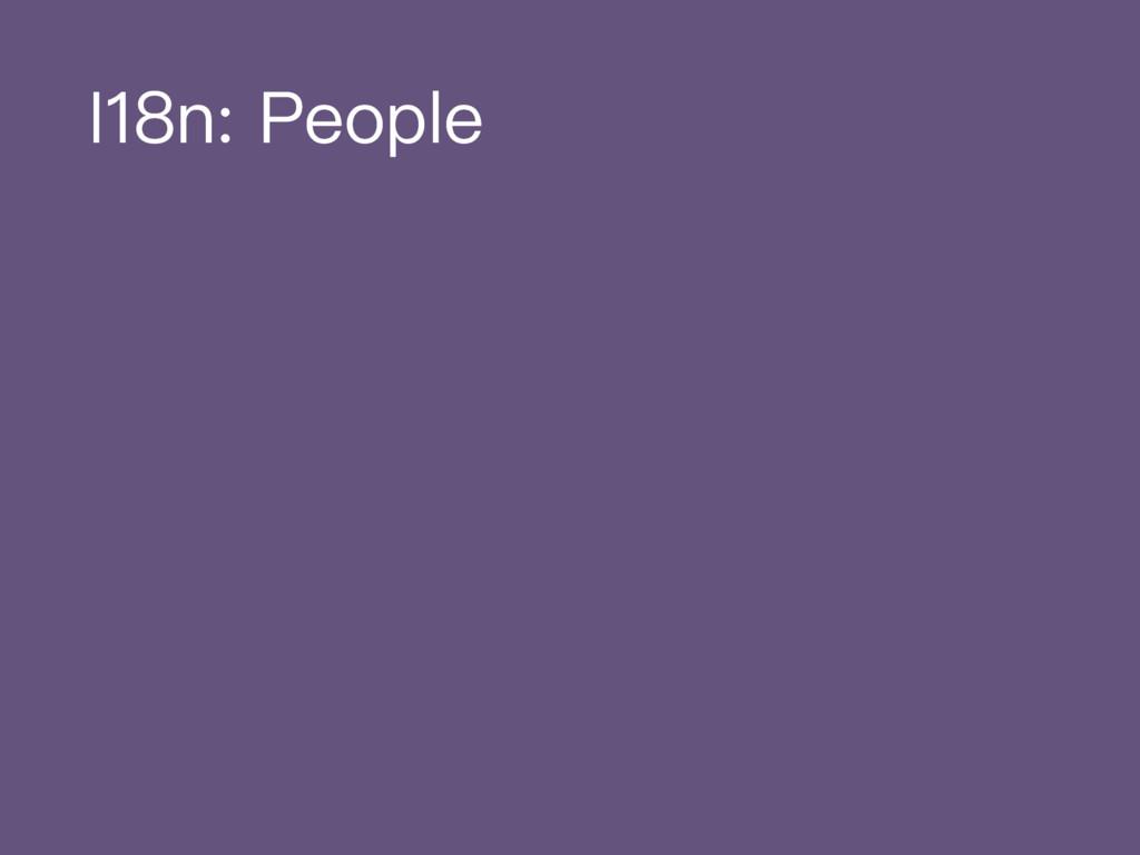 I18n: People