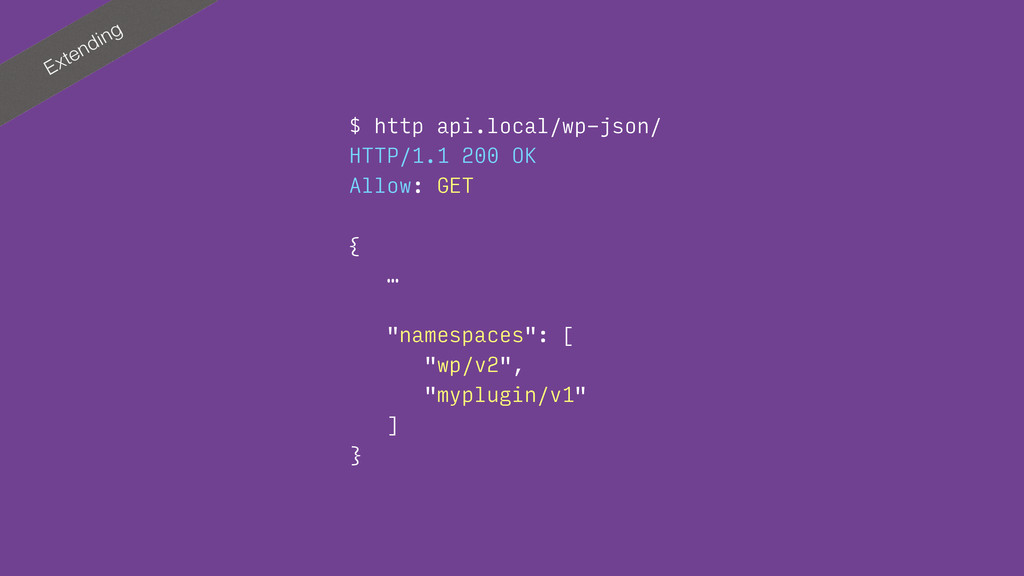 Extending $ http api.local/wp-json/ HTTP/1.1 20...