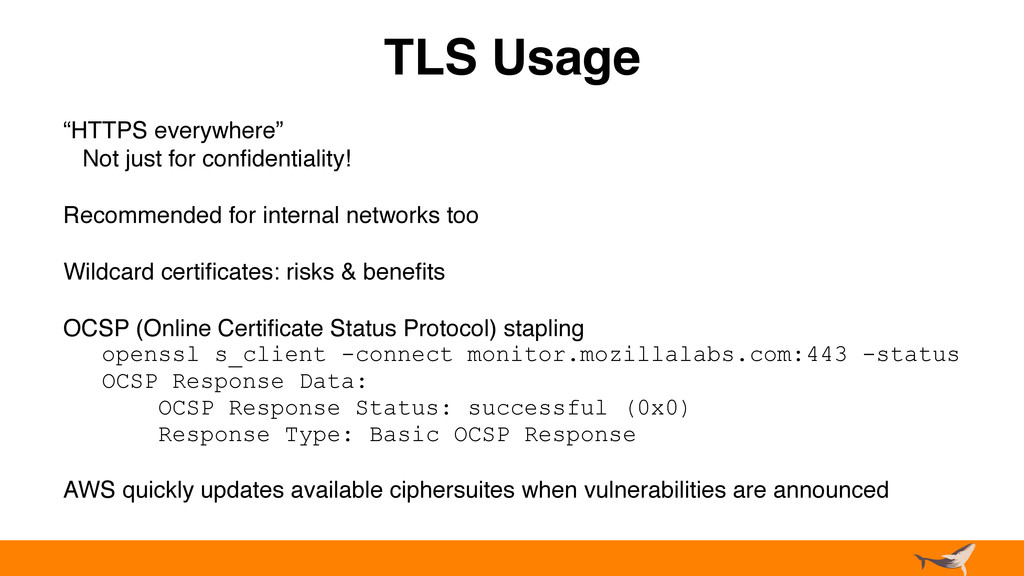 """TLS Usage """"HTTPS everywhere"""" Not just for confid..."""
