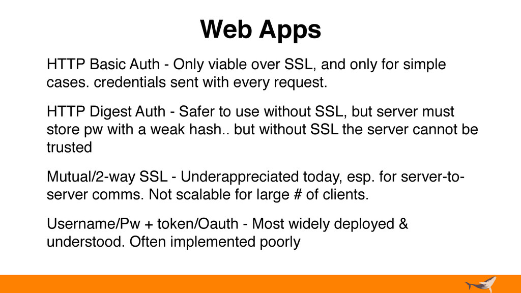 Web Apps HTTP Basic Auth - Only viable over SSL...