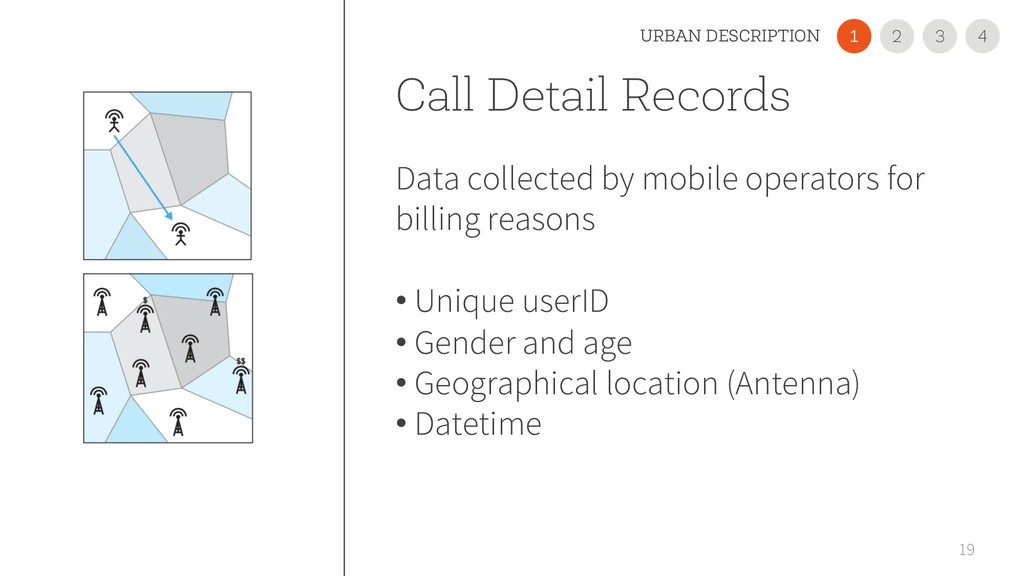 Call Detail Records Data collected by mobile op...